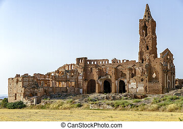 Belchite village destroyed in a bombing during the Spanish ...