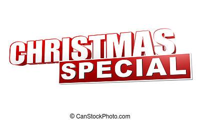 belemmeer brieven, bijzondere , kerstmis, rood, 3d
