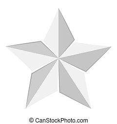 belen, aislado, estrella, icono