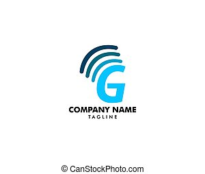 beletrystyka, g, sygnał, początkowy, projektować, logo