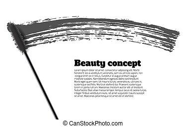 beleza, apoplexia, vetorial, mascara, fundo, escova