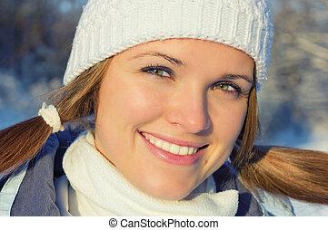 beleza, em, inverno