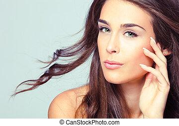 beleza natural, retrato mulher
