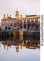 Belfast architecture at sunrise