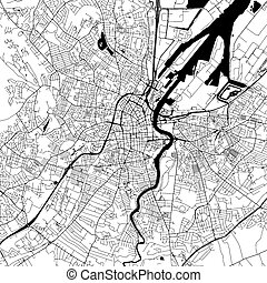 Belfast Downtown Vector Map - Belfast downtown Map with many...