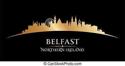 Belfast Northern Ireland city skyline silhouette. Vector illustration