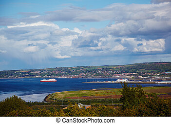 View at outskirts from Belfast Castle, Nothern Ireland