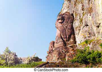 belfort, ライオン, 記念碑, 歴史的, フランス