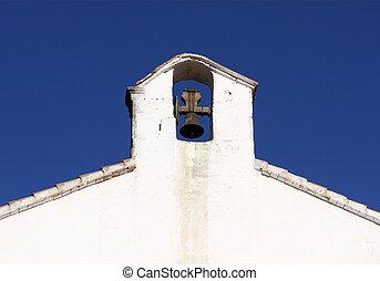 Belfry in spanish style in Alcossebre, Spain.