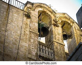 Belfry in the Christian Quarter of old Jerusalem