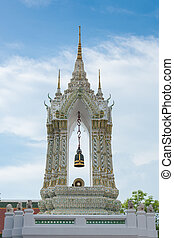 belfry in watphrakaew, bangkok thailand