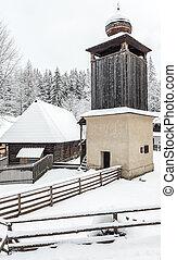 Belfry in Zuberec, Slovakia