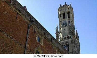 Belfry of Bruges, Belgium.