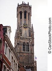 Belfry of Bruges in Belgium Landmark of Bruges