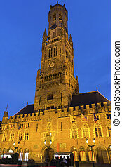 Belfry of Bruges in Belgium