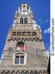 Belfry of Bruges in Belgium