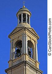 belfry of church in Bergamo