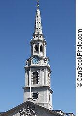 Belfry of St. Martin church in the Fields, London