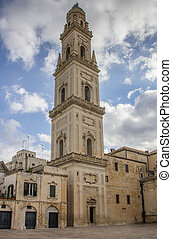 Belfry of the cathedral in Lecce