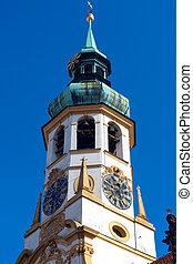 Belfry of the church Loreta - Loreta is an ornate baroque...
