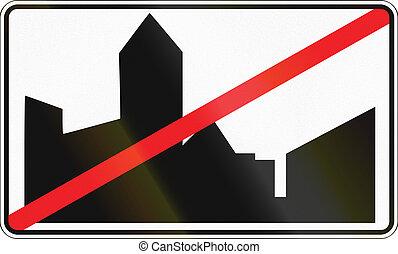 belga, regulatory, muestra del camino, -, urbanizado, área