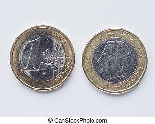 Belgian 1 Euro coin