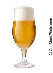 Belgian Ale (Beer) Isolated with clipping path