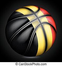 Belgian basketball, vector