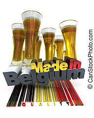 Belgian beer - Beer glasses with the label made in Belgium ...
