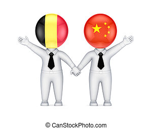 Belgian-Chinese cooperation concept.
