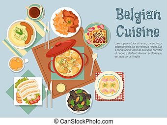 Belgian cuisine popular national dishes