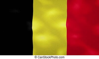 Belgium dense flag fabric wavers, perfect loop for background