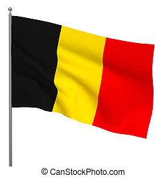 Belgian flag. 3d illustration on white background