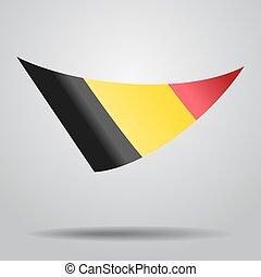 Belgian flag background. Vector illustration. - Belgian flag...