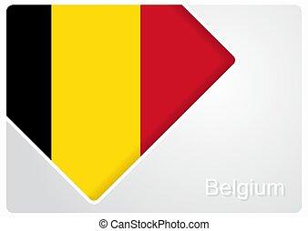 Belgian flag design background. Vector illustration. -...