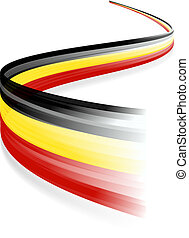 Belgian flag - Abstract Belgian waving flag isolated on...