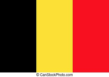 Belgian flag, flat layout, vector illustration