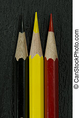 Belgian flag from pencils
