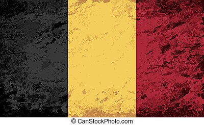 Belgian flag Grunge background.