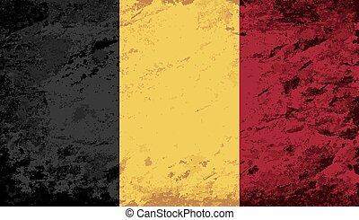 Belgian flag Grunge background. Vector illustration Eps 8.