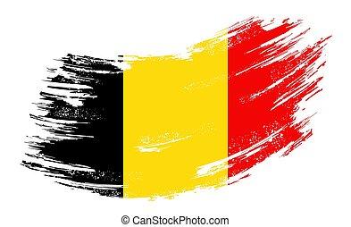 Belgian flag grunge brush background. Vector illustration...