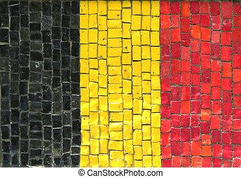 Belgian Flag in Mosaic