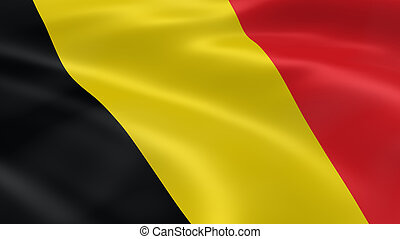 Belgian flag in the wind. Part of a series.