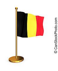 Belgian flag. Isolated on white.3d rendered.