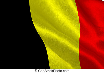 Belgian flag rippling