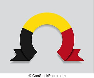 Belgian flag rounded abstract background. Vector ...