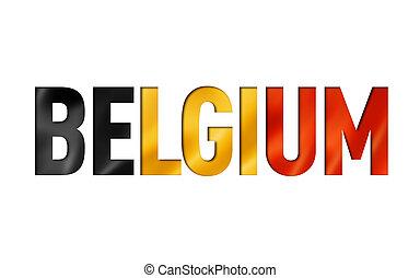 belgian flag text font. belgium symbol background