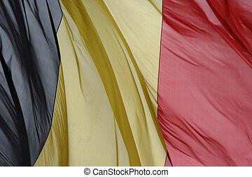 Waving belgian flag background