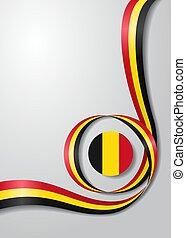 Belgian flag wavy background. Vector illustration. - Belgian...