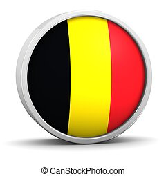Belgian flag with circular frame. Part of a series.